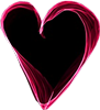 Pink black heart 100px by EXOstock