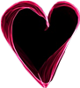 Pink black heart 2 100px by EXOstock