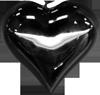 Black metal heart 1 100px by EXOstock