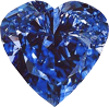Blue diamond heart 100px by EXOstock