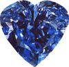Blue diamond heart 100px by EXOstock