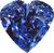 Blue diamond heart 50px