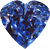 Blue diamond heart 50px by EXOstock