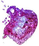 Pink diamond heart 150px