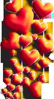 Many flying hearts 200px