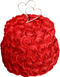 Red and white rose cake 150px
