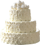 White roses cake 150px