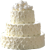 White roses cake 50px by EXOstock