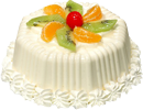 White cake with fruit 130px by EXOstock