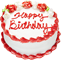Happy birthday!!! red and white 60px