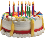 Colorful cake with candles 150px by EXOstock