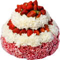 Red and white strawberry cake 120px
