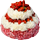 Red and white strawberry cake 40px