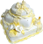 Yellow and white cake 50px