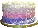 Purple pink and white cake 150px
