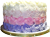 Purple pink and white cake 50px