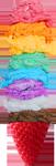 Rainbow ice cream in strawberry 150px