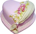 Purple heart cake 150px