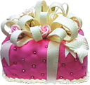 Pink gift cake 120px