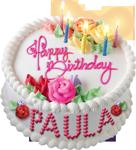 Happy birthday cake for Paula 150px