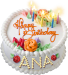 Happy birthday cake for Ana 150px