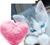 Little kitten with a fur heart 50px