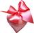 Silk heart with a bow 50px