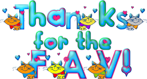 Thanks for the FAV blue