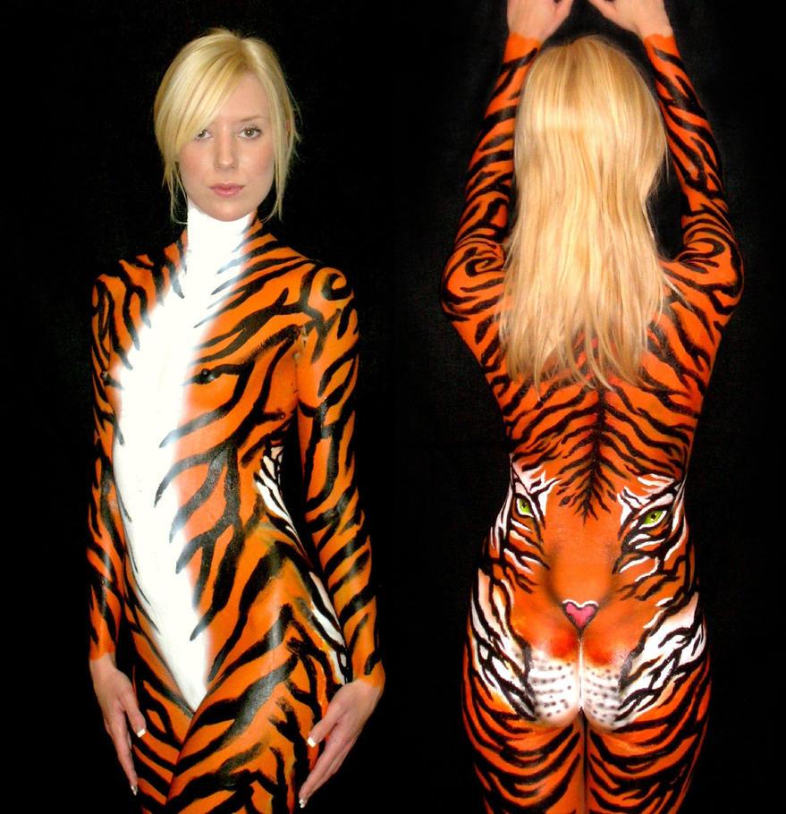 Tiger Print Body Paint