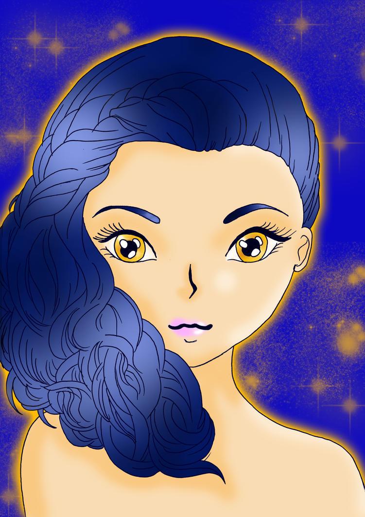 Unknown Girl Headshot Version 2 by TenshiNeera