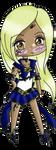 G: Sailor Onyx Raven Chibi by TenshiNeera