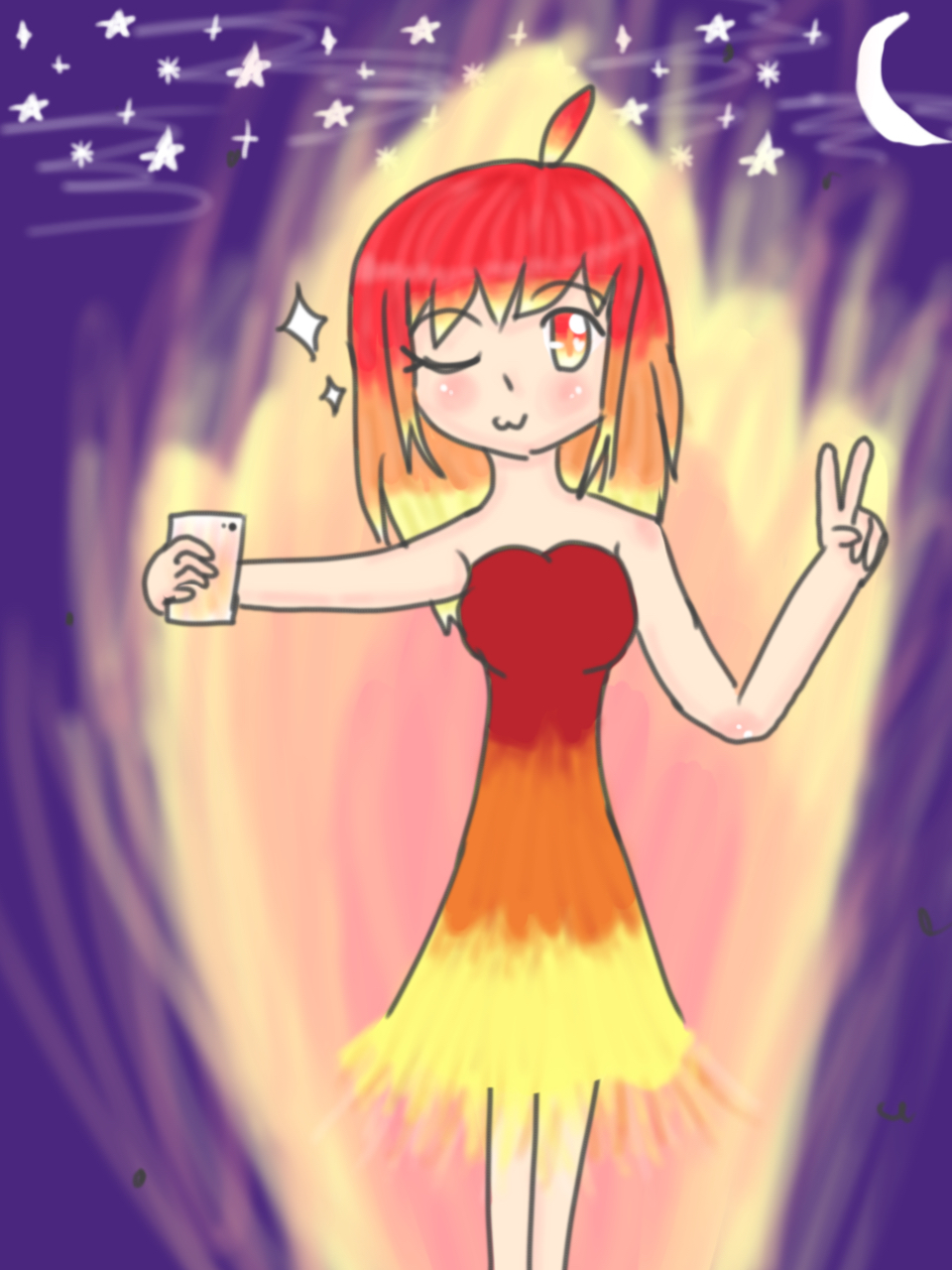 This girl is on fire (Fire being) by ShizukoMaruyama42