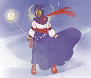Hijabi Moon Princess by Malinav