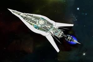 Harpiya Empire Destroyer by OrionShipworks