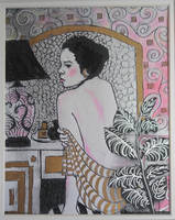 Woman at a Dressing Table by OrionShipworks