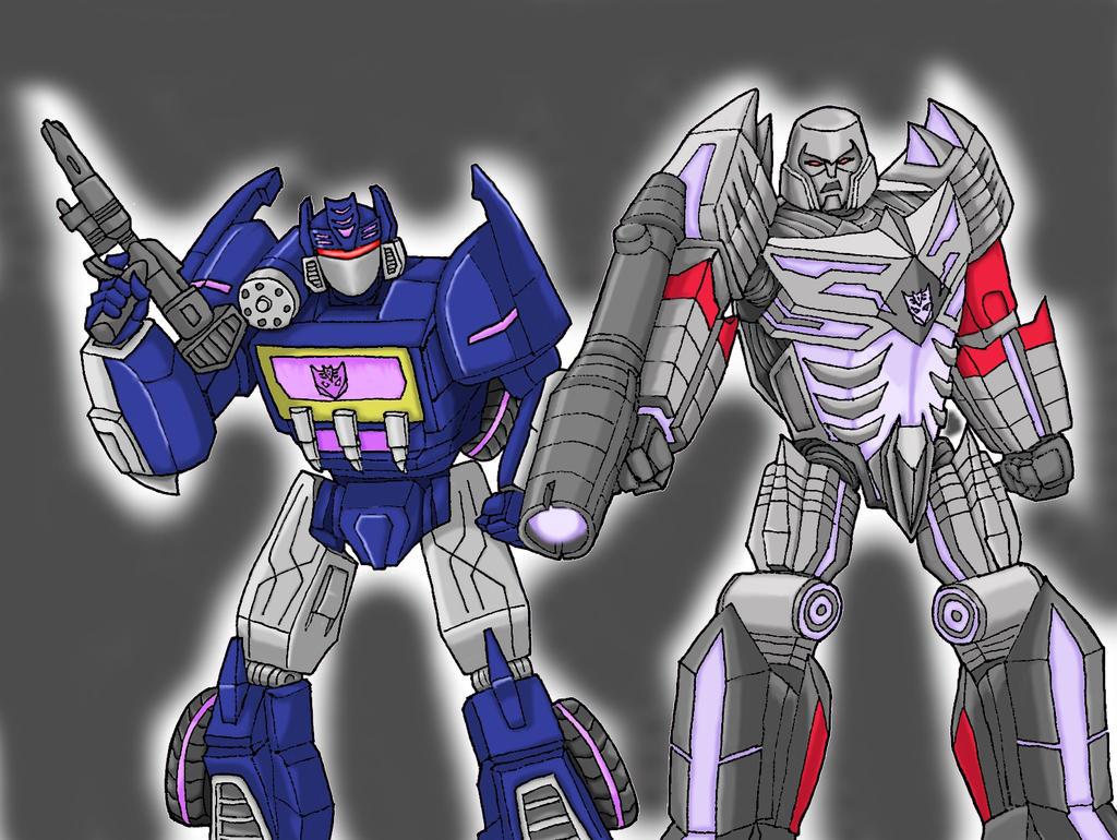 FOC Soundwave and Megatron color version by SuperiorWave