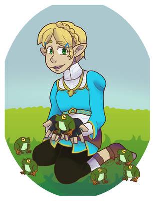 Shorthair Zelda [BotW] by Soulfire402