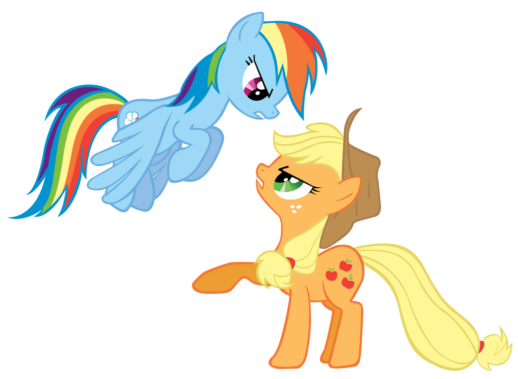 Applejack and Rainbow Dash by Are-you-jealous on DeviantArt