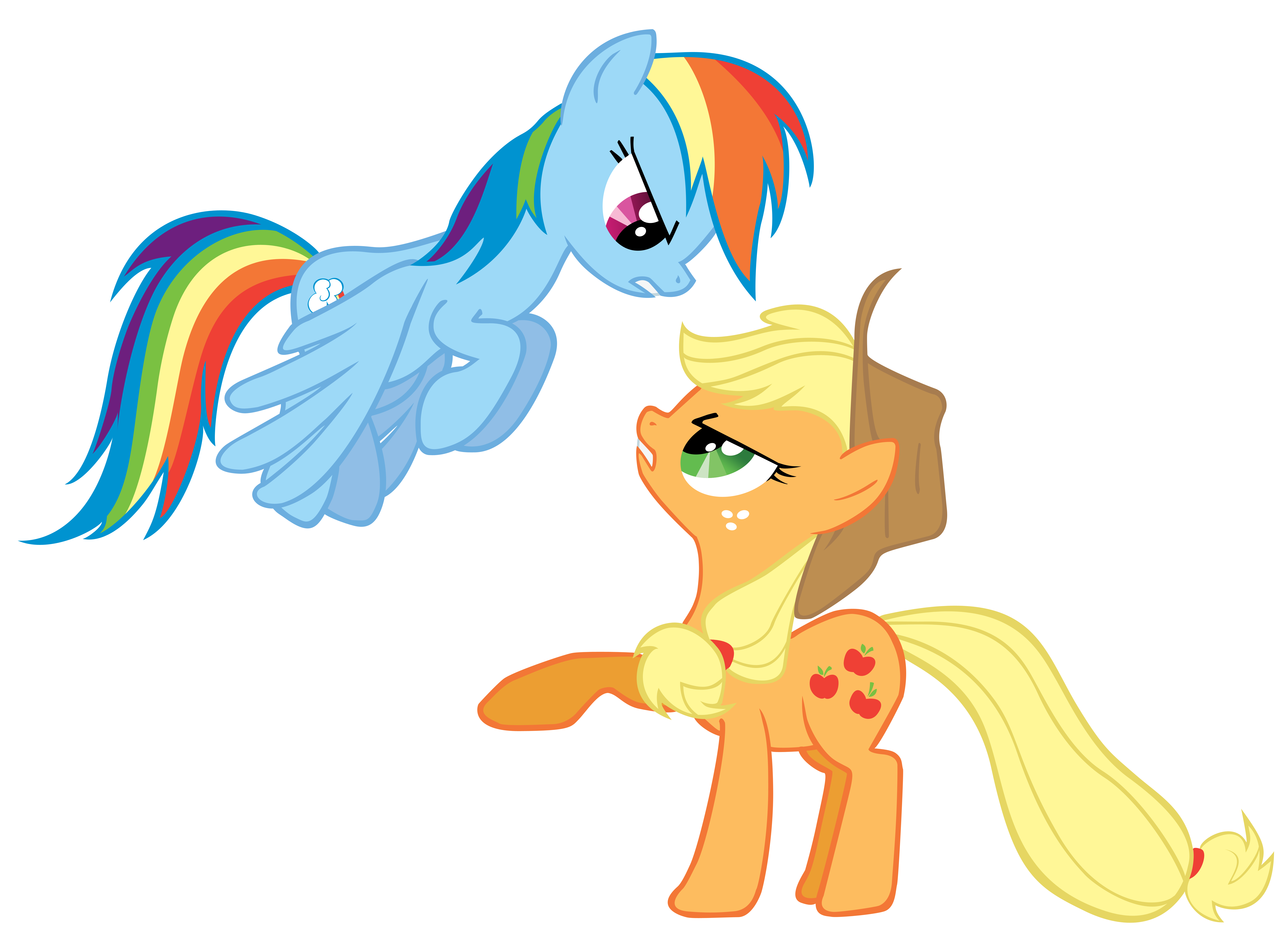 SPOILERS!) Rainbow Dash and Applejack Spooked by RainbowDerp98 on ...
