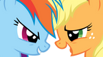 Applejack and Rainbow Dash: Fall Weather Friends
