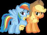 More Applejack and Rainbow