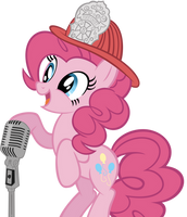 Singing Firefighting Hat Pinkie-Pie by Are-you-jealous