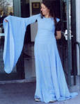 LOTR blue gown fitting