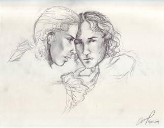 Lestat comforts Nicholas WIP by renaissancegirl14