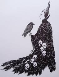 Maleficent drawing by renaissancegirl14
