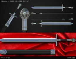 Svetovid sword by Kriegerman