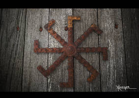 Kolovrat Rusty metal with background by Kriegerman