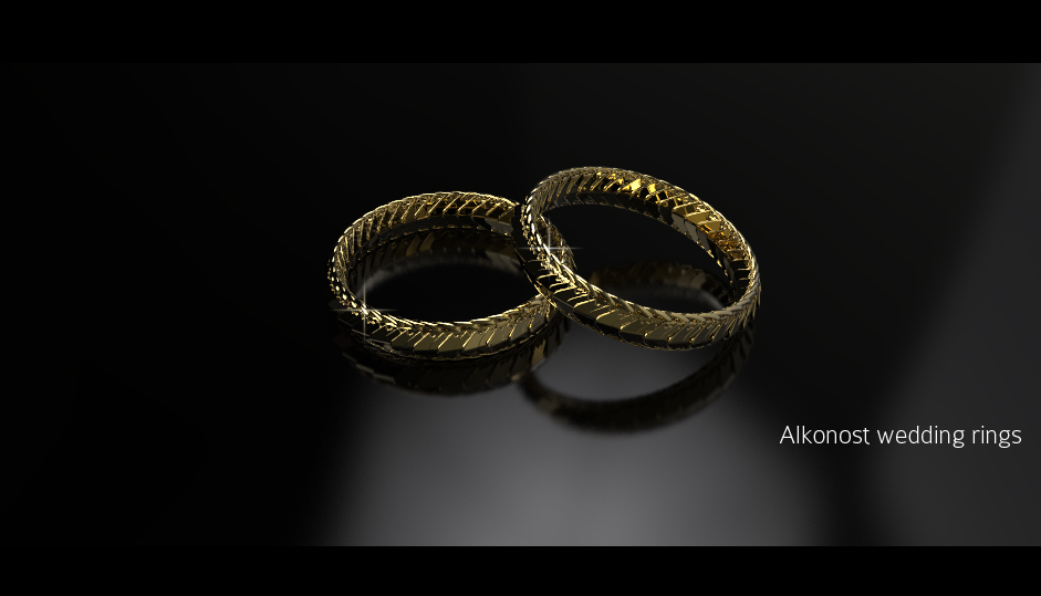 The most unusual wedding rings Slavic wedding rings