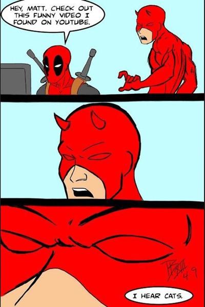 deadpool and daredevil hearding? by peterrustoen