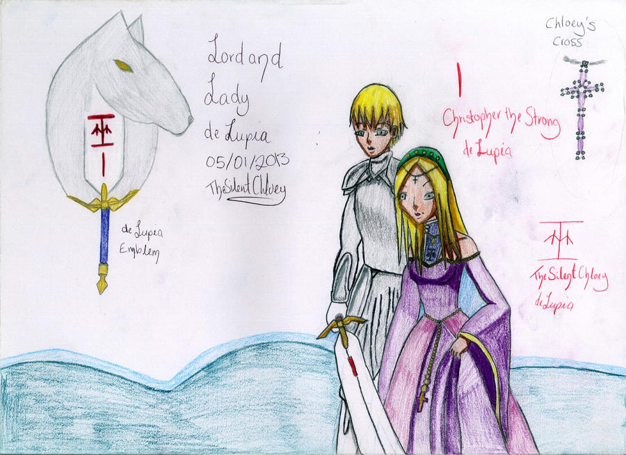 Lord and Lady deLupia Clean SKETCH by TheSilentChloey